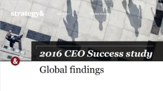 Global findings. 2016 CEO Success study